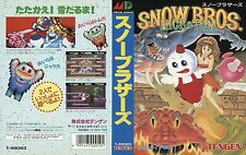 Snow Bros Sega Mega Drive JP japen NTSC-J remplacement Box Art Case Insert Cover