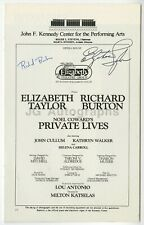 "Elizabeth Taylor & Richard Burton - Signed ""Private Lives"" Playbill"
