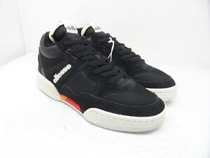 Ellesse Men's Piazza SUED AM Suede Casual Sneakers Black/White Size 12M