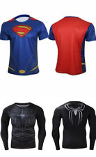 Camiseta de compresión superhéroe Spiderman/Superman Manga Larga/Corta
