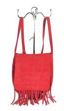 STRENESSE BLUE Tasche Handtasche Crossbody Bag Echtleder Fransen Pink