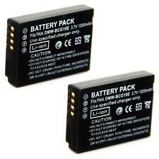 2x Battery for Panasonic Lumix DMC-TZ18 DMC-TZ19 DMC-TZ20 DMC-TZ22 DMC-TZ25