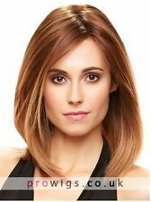 100% Real hair! Fashion wig New Women's Long Bob Brown Straight Human Hair Wigs