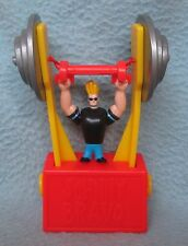 "WEIGHT LIFTING JOHNNY BRAVO 4"" TOY FIGURE, Push Puppet?"