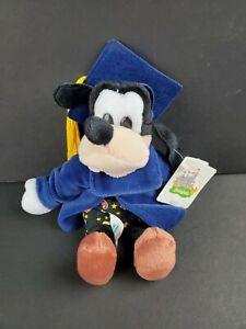 "Disneyland WDW Vintage Grad Nite Goofy 8"" Bean Bag Plush Animal Toy Gift NWT NEW"