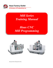 More details for haas mill series cnc mill programming training manual reprinted comb bound