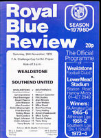 1979/80 WEALDSTONE V SOUTHEND UNITED 24-11-1979 FA Cup 1st Round