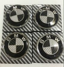 4x Center Hub Cap Caps Carbon Fiber Wheel Cover Emblem for BMW² 3 5 E X ZSeries
