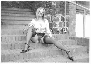 Semi Nude European Postcard- Up Skirt- Panties- Stockings- Legs- Heels- Blond
