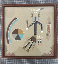 Genuine Native American Navajo Framed Sand Painting by D Curtis