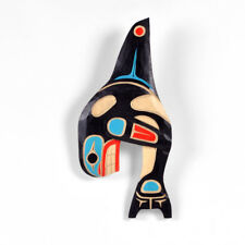 Cedar West Coast Native Orca Whale Wall Carving