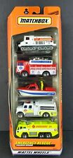 Matchbox Emergency Rescue 5 Pack Gift Set 1/64 Cars 36813 Exclusive Designs NEW