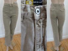 Big Star Jeans Style Hoher Bund Straight Leg Beige denim 26 L30 XS Neu Etikett
