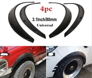 "4pcs Universal Flexible Car Body Wheel Fender Flares Extra Wide Arches 3"" (80mm)"
