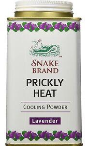 Snake Brand Prickly Heat Cooling Powder Relaxing Wild Thanaka 2 bottles x 140g