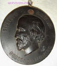 MEDAILLON BOIS DURCI - GIUSEPPE GARIBALDI - GUERRA D'ITALIA 1859
