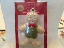 New! Lenox Cookie Press Ornament Gingerbread Man With Gold Tassel for Hanging