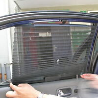 Car Retractable Side Rear Window Mesh Sun Shading Curtain Roller Blind Sun  Shade