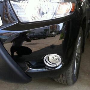 Chrome Front Fog light Cover trim Fog Lamp Frame For Toyota Kluger 2008-2010