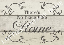 STENCIL A5 THERES NO PLACE LIKE HOME Furniture Fabric ❤ Vintage Shabby Chic
