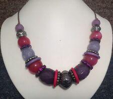 """Retro Estilo Vintage Colgante Collar De Tendencia Blogger Festival púrpura 21"""""""