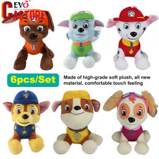 SET of 6 PAW PATROL COMPLETE  Cute Dogs plush Doll Dog Toy Chase Zuma 12CM