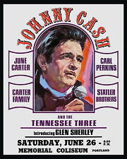 Johnny Cash Concert Ad Poster (1971) - 8x10 Color Photo