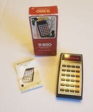 Vintage Texas Instruments Ti-1250 Electronic Calculator Red Led Light Display