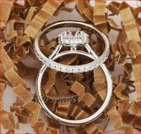 2.30Ct Antique Art Deco Vintage White Moissanite 14K Gold Over Bridle Set Ring
