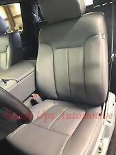 2013 2014 Ford F 150 Xlt Supercrew Crew Cab Leather Seat Covers Kit Gray Steel