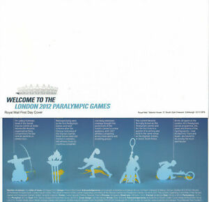 (63133) GB FDC Welcome London Paralympic Games Blank Envelope (no stamps) 2012