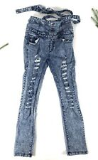 JC & JQ  Women's Jeans Stretchy High Buttons Skinny Jeans Size 15.  A50