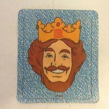 Vintage 1978 Burger King Iron-On Patch Blue BK Fast Food Restaurant Logo Face 78