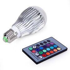 E27 9W Colorful LED RGB Magic Spot Light Bulb With Wireless Remote 85V 265V