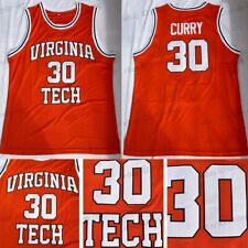 Dell Curry #30 Virginia Tech College Men Basketball Jersey Stitched Orange