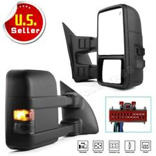 Trailer Tow Mirrors for 2008-2016 Ford F250-F550 Super Duty Power Heated Signals