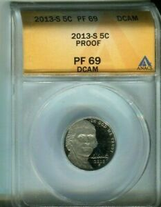 2013-S Jefferson Nickel - ANACS PF69 DCAM