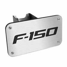 "Ford F-150 Brushed Stainless Steel Metal 2"" Tow Hitch Cover Plug"