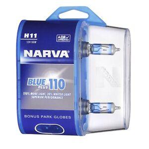 Narva H11 Globes 12V 55W Blue Plus 90 48538BL2 fits Toyota Camry 2.5 (ASV50),...