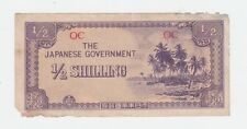 THE JAPANESE GOVERNMENT 1/2 Half Shilling WWII BANKNOTE Invasion WAR Money E-425