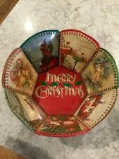 Vintage Crocheted Christmas Card Bowl Excellent Condition