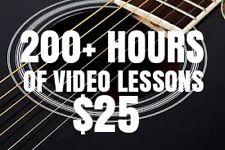 Over 200 Hours Of VIDEO Music Lessons! Guitar, Bass, Ukulele MORE! Beginner/Pro.