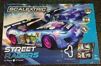 """SCALEXTRIC C1376 """"STREET RACERS"""" 1/32 BOX SET NEW"""