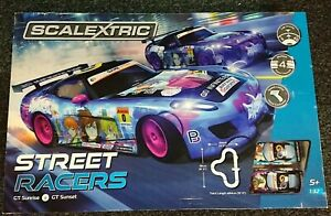 "SCALEXTRIC C1376 ""STREET RACERS"" 1/32 BOX SET NEW"