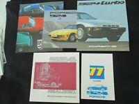 1977 Porsche 924 Brochure Pack, Sales Catalog, Color Chart & 1980 931 Turbo Set
