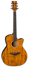 Dean AX E SPALT Acoustic-Electric Cutaway Guitar, Natural Spalt