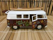 1962 CLASSIC VW LOVE & PEACE  SURFBOARD LONGBOARD VAN BEACH OLE LOGO BUS 1:32