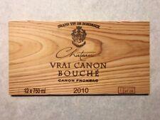 1 Rare Wine Wood Panel Château Vrai Canon Bouché Vintage Crate Box Side 6/18 871