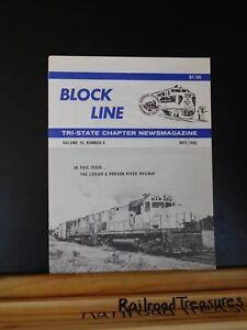 Block Line NRHS 1985 May L&HR History Lehigh & Hudson River