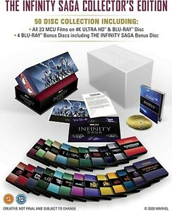 Marvel Avengers Infinity Saga Collectors Edition Original 4K UHD Blu-ray Movies